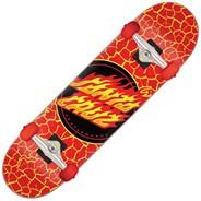 Flame Dot Large 8.25 Red Complete Skateboard