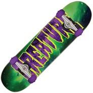 Galaxy Logo Mid Green/Purple Complete Skateboard
