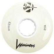 Luminous 62mm 85a Roller Skate Wheel - White Glow