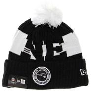 NFL Sideline Bobble Knit 2020 Black Beanie - New England Patriots