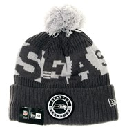 NFL Sideline Bobble Knit 2020 Grey Beanie - Seattle Seahawks