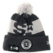 NFL Sideline Bobble Knit 2020 Grey Beanie - San Francisco 49ers