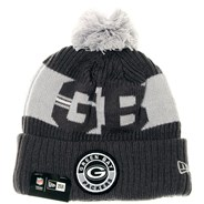 NFL Sideline Bobble Knit 2020 Grey Beanie - Green Bay Packers