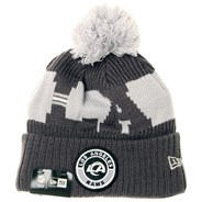 NFL Sideline Bobble Knit 2020 Grey Beanie - Los Angeles Rams
