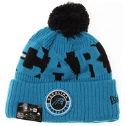 NFL Sideline Bobble Knit 2020 Reverse Beanie - Carolina Panthers