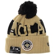 NFL Sideline Bobble Knit 2020 Reverse Beanie - New Orleans Saints
