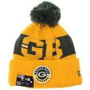NFL Sideline Bobble Knit 2020 Reverse Beanie - Green Bay Packers