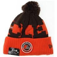NFL Sideline Bobble Knit 2020 Reverse Beanie - Cleveland Browns