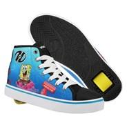 Hustle SpongeBob Black/White/Multi Canvas Kids Heely Shoe