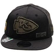NFL On Field 2020 Salute To Service 950 Snapback - Kansas City Chiefs