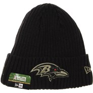 NFL On Field 2020 Salute To Service Cuff Knit Beanie - Baltimore Ravens