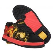 Split MTV Black/Red/Yellow Adult Heely Shoe