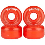Disco Clear Red Quad Roller Skate Wheels