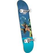 Poison Lion Fish #242 Birch 8inch Complete Skateboard - Multi