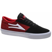 Manchester Black/Red Suede Shoe