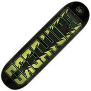 CR3ATUR3 Black/Green 8.25inch Skateboard Deck