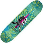 Peralta Skull & Sword #243 8.25inch Skateboard Deck - Blue