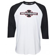 O.G.B.C. 3/4 Sleeve Baseball T-Shirt - Black/White