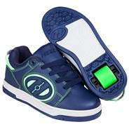 Voyager Navy/Green Kids Heely Shoe