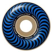 Formula Four Classics 97DU Natural 56MM Skateboard Wheels - Blue