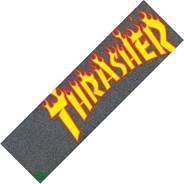 Thrasher Flame Logo Skateboard Griptape - Black