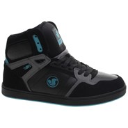 Honcho Black/Charcoal/Turquoise Suede Shoe