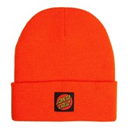 Classic Label Dot Beanie - Warm Orange