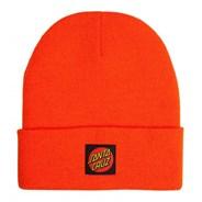 Classic Label Dot Beanie - Warm Orange