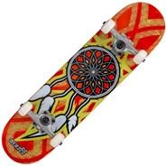 Dream Catcher Mini 7.25inch Complete Skateboard  - Orange/Yellow