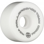 Team Logo 98a 62mm Artistic Roller Skate Wheels - White