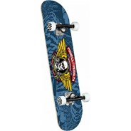 Winged Ripper #242 8inch Complete Skateboard - Blue