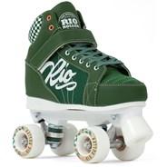 Mayhem II Green Quad Roller Skates