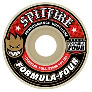 Formula Four Conical Full 101DU Natural 53MM Skateboard Wheels - Red