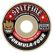 Formula Four Conical Full 101DU Natural 53MM Skateboard Wheels - Red