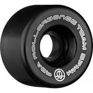 Team Logo 98a 57mm Artistic Roller Skate Wheels - Black