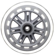 Street 120mm Scooter Wheels and Bearings- Clear