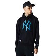 MLB Seasonal Team Logo Pullover Hoody - New York Yankees - Black/Deep Teal