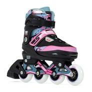 Pixel Adjustable Fitness Inline Skates - Blue/Pink