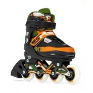Pixel Adjustable Fitness Inline Skates - Green/Orange