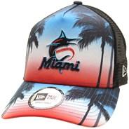 Summer City Trucker Cap - Miami Marlins