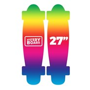 Complete Nickel 27inch Plastic Skateboard - Mystery