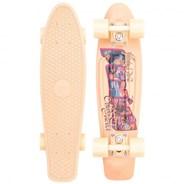 Complete 22inch OG Plastic Skateboard - Postcard Coastal Peach