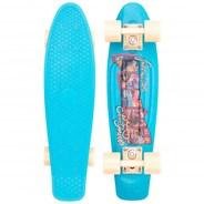 Complete 22inch OG Plastic Skateboard - Postcard Coastal Blue