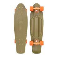 Complete Nickel 27inch Plastic Skateboard - Burnt Olive