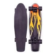 Complete Nickel 27inch Plastic Skateboard - Flame