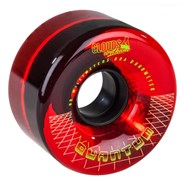 Quantum 62 - 62mm/80a Roller Skate Wheels - Clear Red