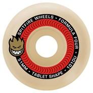 Formula Four Tablet 101DU Natural 53MM Skateboard Wheels - Red