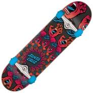 Mandala Hand 8inch Complete Skateboard - Red Blue