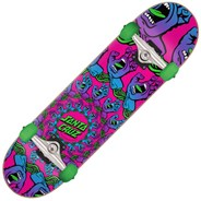 Mandala Hand Mini 7.75inch Complete Skateboard - Purple Pink