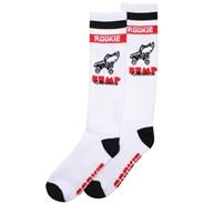 16'' Mid Calf Bump Socks - White/Red